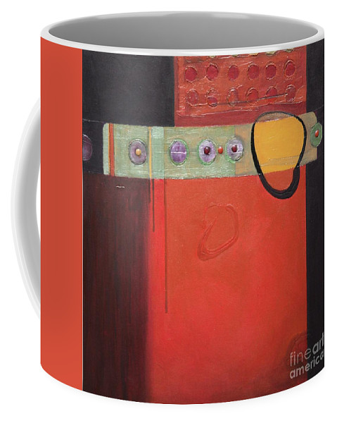 Abstract Coffee Mug featuring the painting Harvest Duo 1 by Marlene Burns