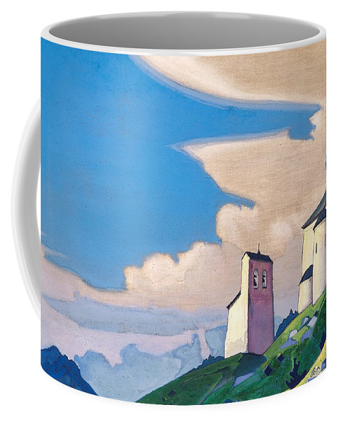 Architectural Coffee Mug featuring the painting Hermitage Of St. Sergius by Nicholas Roerich