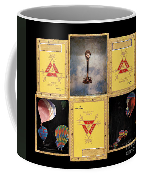 Cigar Boxes Coffee Mug featuring the mixed media High by Jaime Becker