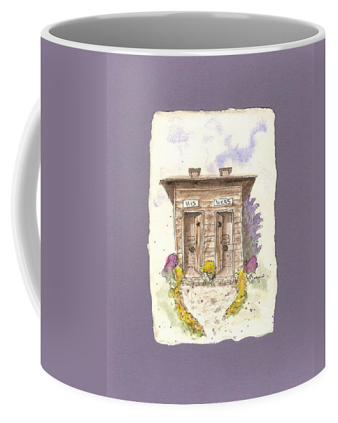 Back House Coffee Mug featuring the painting His And Hers by Gail Maguire
