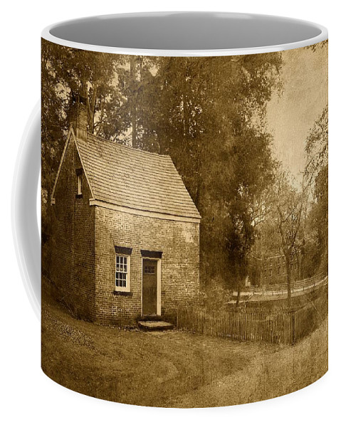 New Jersey Coffee Mug featuring the photograph Historic Home - Allaire State Park by Angie Tirado