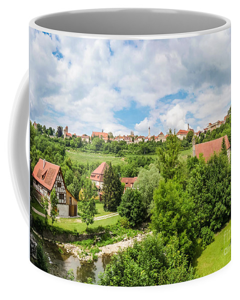 Ancient Coffee Mug featuring the photograph Historic Town Of Rothenburg Ob Der Tauber by JR Photography