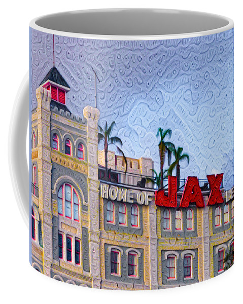 New Coffee Mug featuring the painting Home Of Jax Beer by Bill Cannon