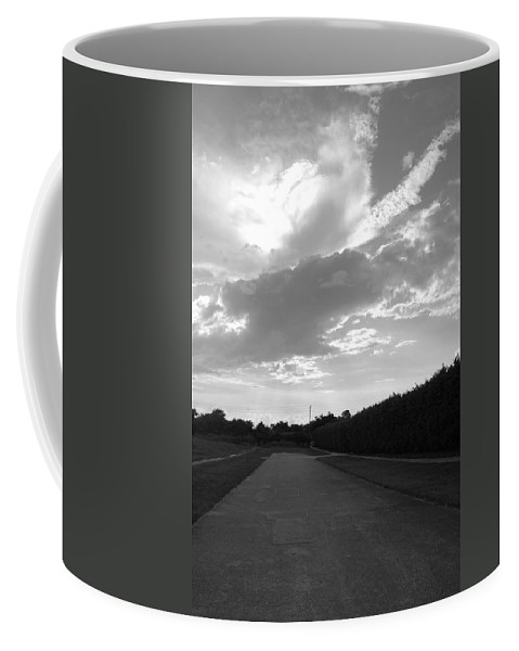 Black And White Coffee Mug featuring the photograph Homestead Sky by Rob Hans
