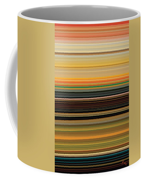 Abstract Coffee Mug featuring the digital art Horizont 1 by Rabi Khan