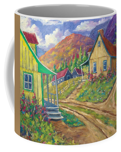 Art Coffee Mug featuring the painting House Of Louis by Richard T Pranke