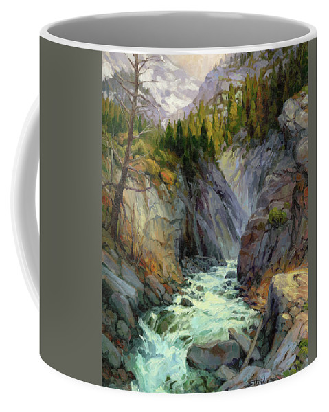 River Coffee Mug featuring the painting Hurricane River by Steve Henderson