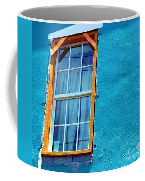 Window Coffee Mug featuring the photograph I Got The Blues by Debbi Granruth