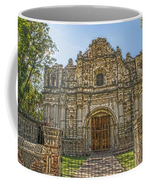 Iglesia San Jose El Viejo Coffee Mug featuring the photograph Iglesia San Jose El Viejo - Antigua Guatemala Hdr by Totto Ponce