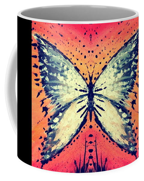 Moth Coffee Mug featuring the painting In Flight by 'REA' Gallery