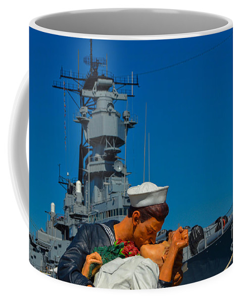 Uss Iowa Coffee Mug featuring the photograph In Port by Tommy Anderson