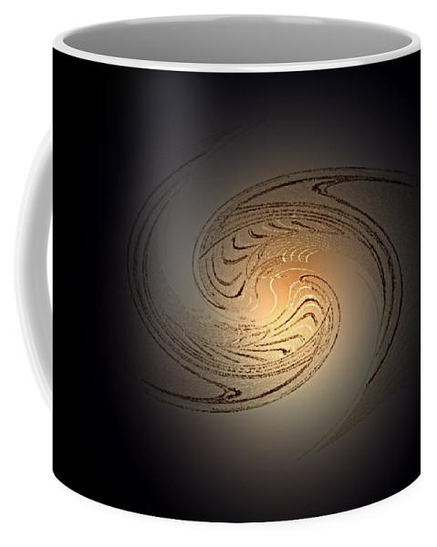 Swirl Coffee Mug featuring the digital art In The Beginning by Don Quackenbush