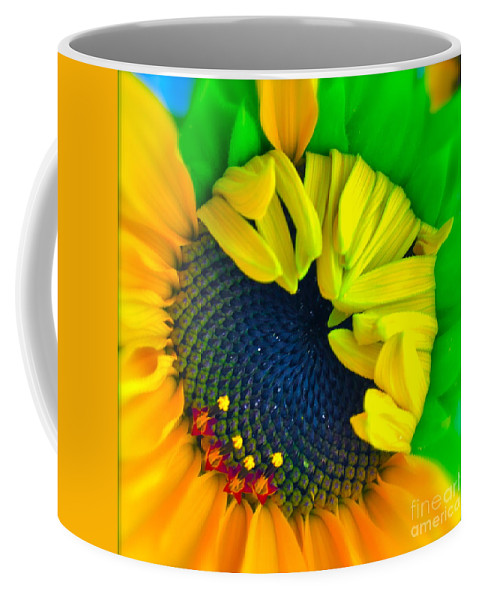 Photograph Of Sunflower Coffee Mug featuring the photograph In The Beginning by Gwyn Newcombe