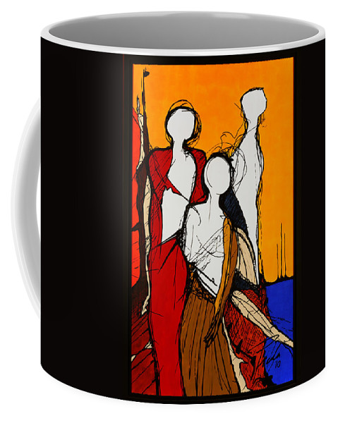 Lagoon Coffee Mug featuring the painting In The Lagoon by PAOLO Bianchi