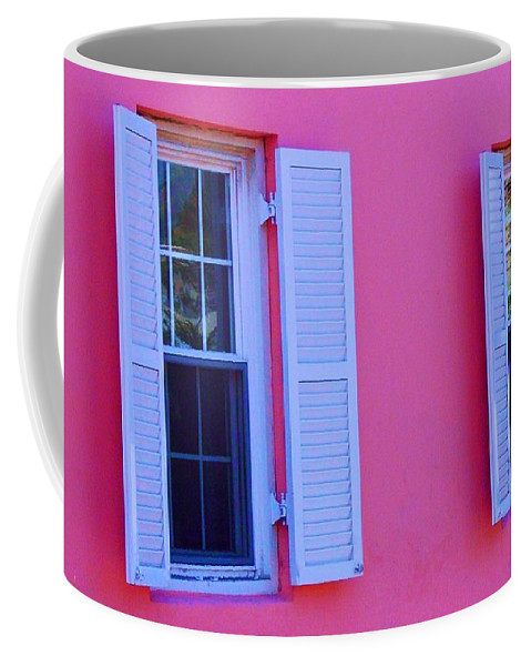 Shutters Coffee Mug featuring the photograph In The Pink by Debbi Granruth
