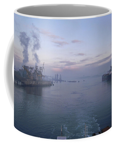 Aqua Coffee Mug featuring the photograph Industrial by Svetlana Sewell