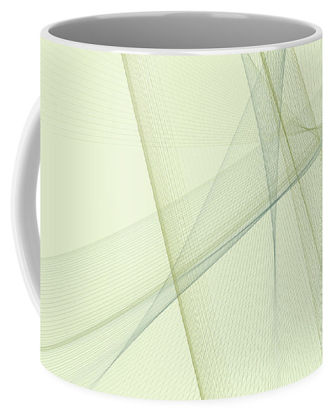 Abstract Coffee Mug featuring the digital art Industry Computer Graphic Line Pattern by Frank Ramspott
