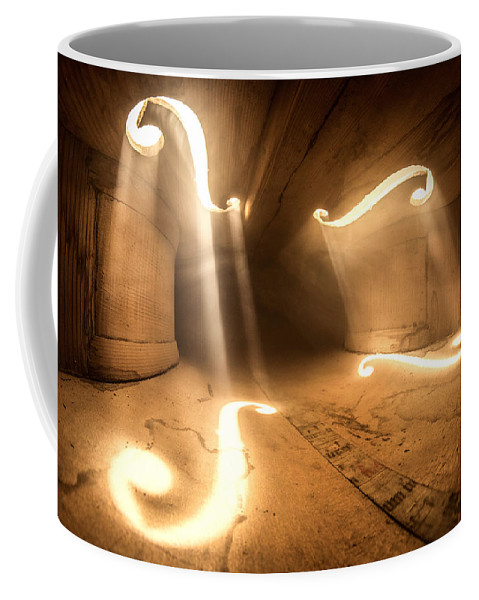 Violin Coffee Mug featuring the photograph Inside Violin 1 by Adrian Borda