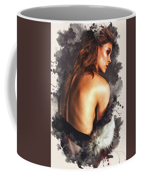 Home Art Coffee Mug featuring the digital art Inspiration by Don Kuing