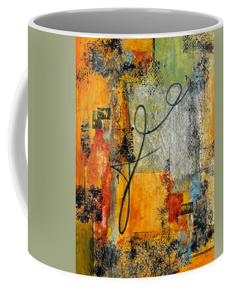 Abstract Coffee Mug featuring the painting Invitation To Dance by Ruth Palmer