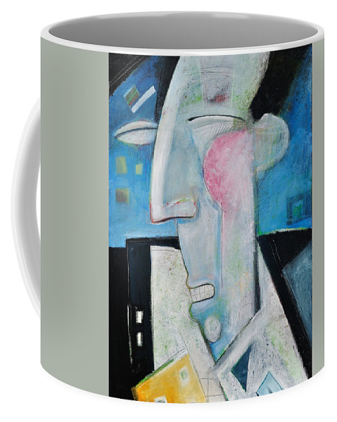 Jazz Coffee Mug featuring the painting Jazz Face by Tim Nyberg