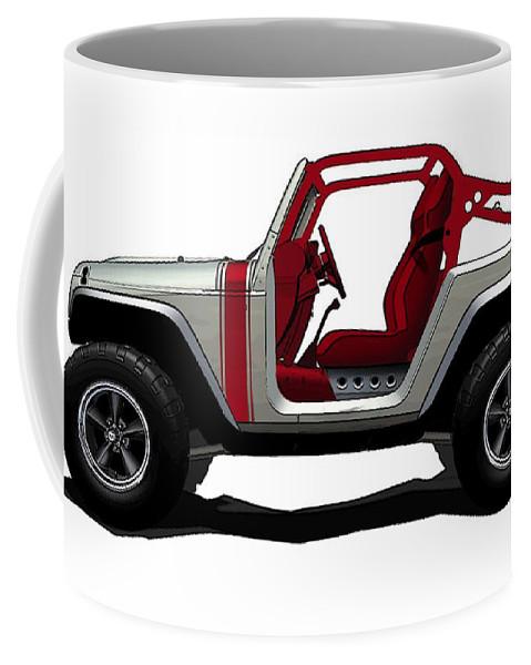 Jeep Coffee Mug featuring the digital art Jeep by Lonna Egleston