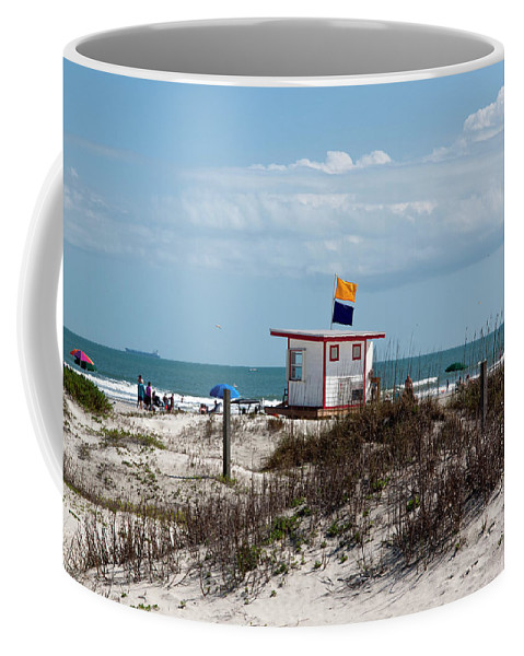 Florida Coffee Mug featuring the photograph Jetty Park On Cape Canaveral In Florida by Allan Hughes