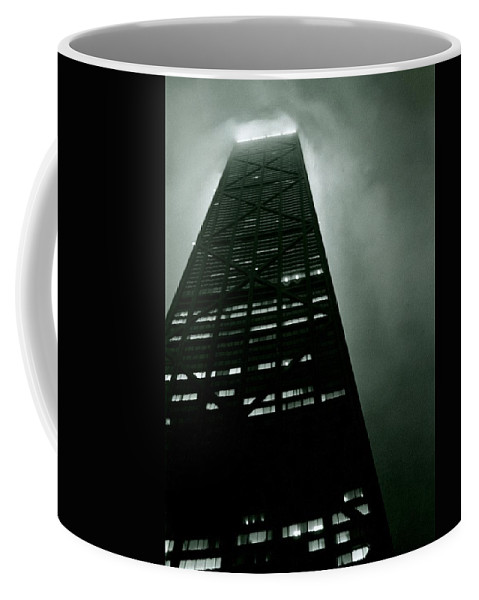 Geometric Coffee Mug featuring the photograph John Hancock Building - Chicago Illinois by Michelle Calkins