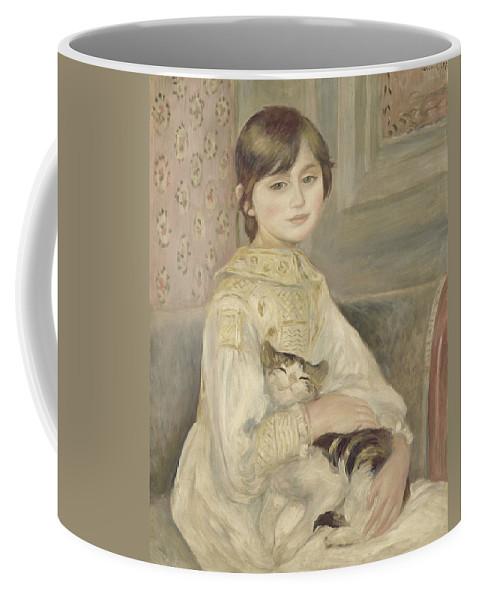 Auguste Renoir Coffee Mug featuring the painting Julie Manet by Auguste Renoir