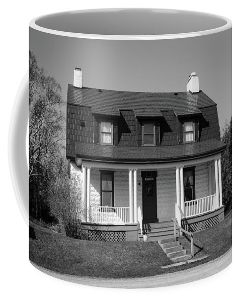 America Coffee Mug featuring the photograph Keeper's House - Presque Isle Light Michigan by Frank Romeo