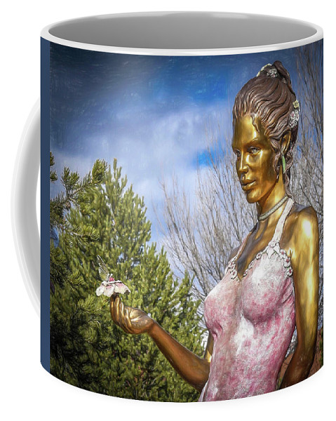 Lady Coffee Mug featuring the photograph Lady In Pink by Will Wagner