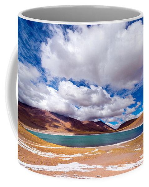 Miscanti Coffee Mug featuring the photograph Lake Meniques In Chile by Jess Kraft