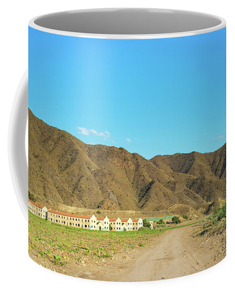 Anna Maloverjan Coffee Mug featuring the photograph Landscape Desert In Almeria, Andalusia, Spain by Anna Maloverjan