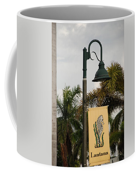 Sea Horse Coffee Mug featuring the photograph Lantana Lamp Post by Rob Hans