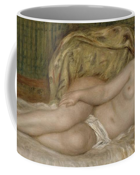 Auguste Renoir Coffee Mug featuring the painting Large Nude by Auguste Renoir
