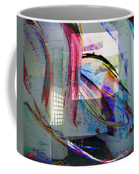 Rainbow Coffee Mug featuring the digital art 1 by Laura Kaschmitter