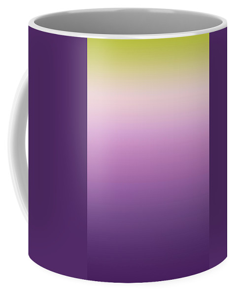 Lavender Field - Abstract Coffee Mug featuring the digital art Lavender - R Blended by Custom Home Fashions