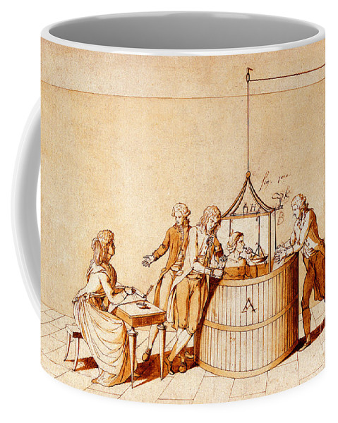 Science Coffee Mug featuring the photograph Lavoisiers Respiration Experiments by Wellcome Images