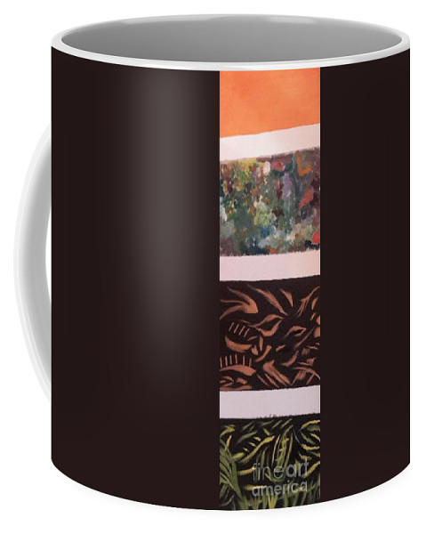 Coffee Mug featuring the painting Layers by Bryan Fuller