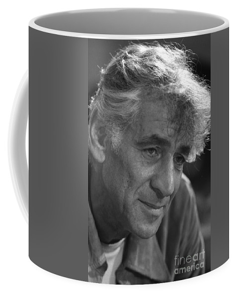 Fine Arts Coffee Mug featuring the photograph Leonard Bernstein, American Composer by Science Source