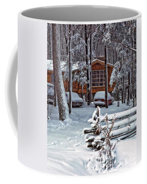 Landscape Coffee Mug featuring the photograph Let It Snow by Steve Harrington