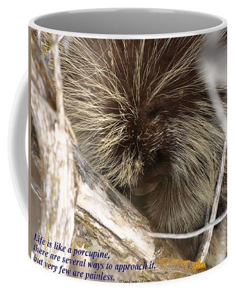 Porcupine Coffee Mug featuring the photograph Life Is Like A Porcupine... by DeeLon Merritt