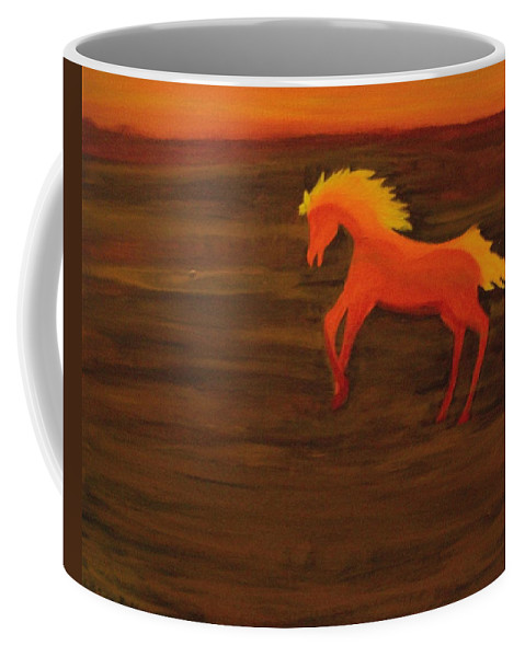 Life On Mars Coffee Mug featuring the painting Life On Mars by Laurette Escobar