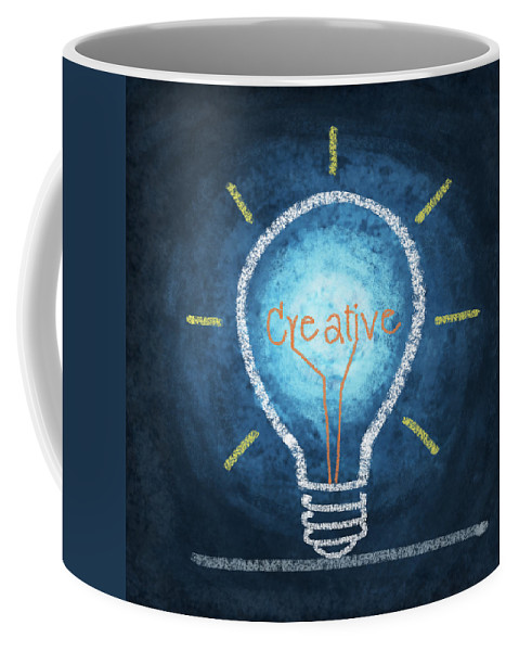 Art Coffee Mug featuring the photograph Light Bulb Design by Setsiri Silapasuwanchai