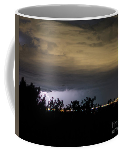 Natanson Coffee Mug featuring the photograph Lightening Up The Night by Steven Natanson