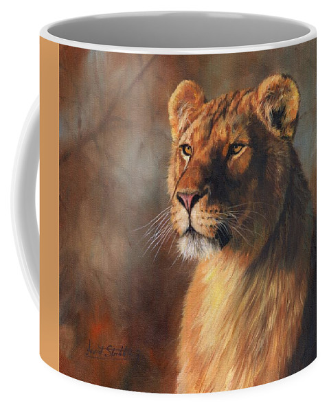 Lioness Portrait Coffee Mug For Sale By David Stribbling