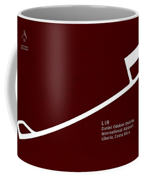 Silhouette Coffee Mug featuring the digital art Lir Daniel Oduber Quiros International Airport In Liberia Costa by Jurq Studio