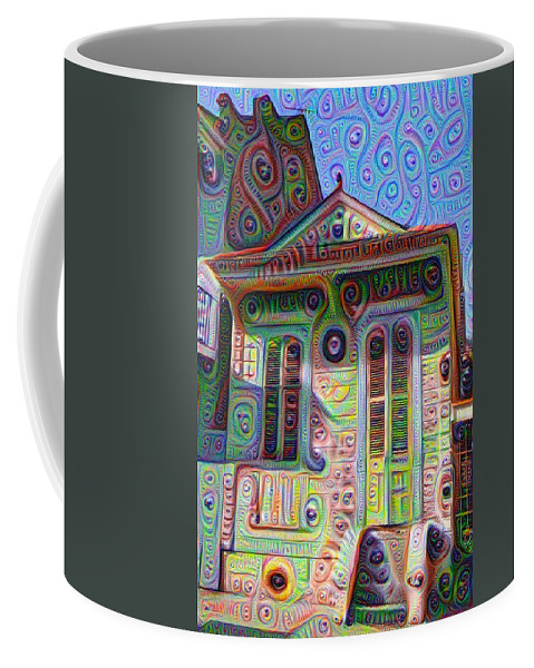 Little Coffee Mug featuring the painting Little House On Bourbon Street by Bill Cannon