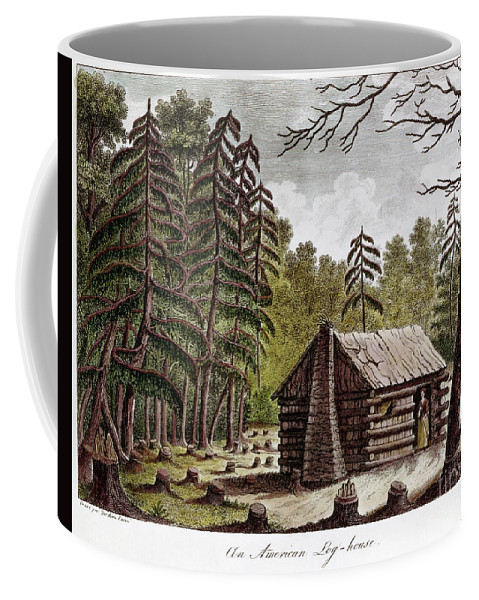 1826 Coffee Mug featuring the photograph Log Cabin, 1826 by Granger
