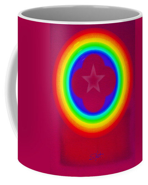 Abstract Coffee Mug featuring the painting Logo by Charles Stuart